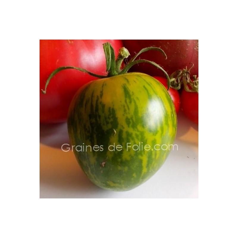 tomate green zebra graines bio. Black Bedroom Furniture Sets. Home Design Ideas