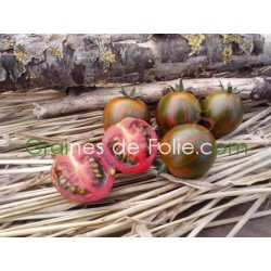Tomate BLACK ZEBRA CHERRY - semences anciennes tomato seeds