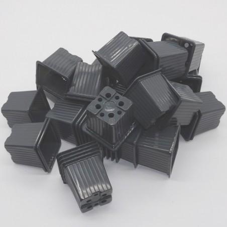 Godet 7x7 cm GRIS pour semis, bouturages ou repiquages