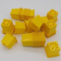 Godet 7x7 cm JAUNE pour semis, bouturages ou repiquages