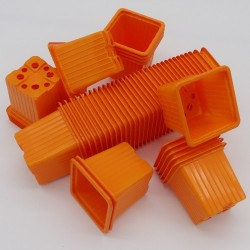 Godet 7x7 cm ORANGE pour semis, bouturages ou repiquages